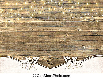 string of lights on barn wood - glowing string of lights on...
