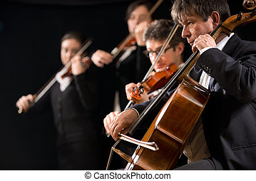 String orchestra performance - String orchestra performing...