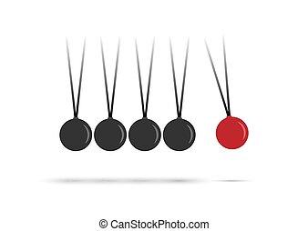 string., pendre, balles, blanc, perpétuel, machine., isolé,...