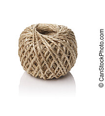 Roll of string made of natural fibers