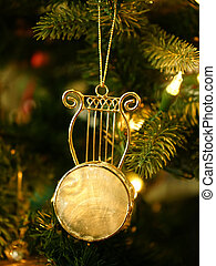 Stringed Instrument Christmas ornament on Christmas Tree