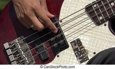 Strings On Bass Guitar