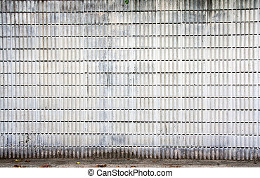 strip cement block wall