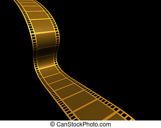 Strip film - A conceptual strip film on black background - ...