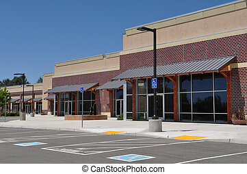 Strip Mall Shopping Center Parking Lot