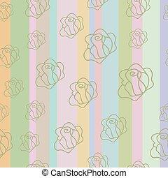 Strip pattern, pastel colors. Vecto