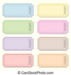 Strip Tickets Blank Raffle Tickets Different Colors - Strip...