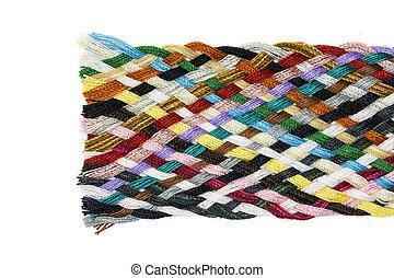 Strip woven cotton multicolored