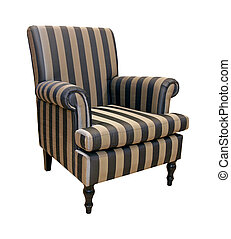 Stripe armchair - Retro style armchair isolated with ...