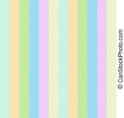 Stripe Background of Pastel Baby Colors Polka Dots