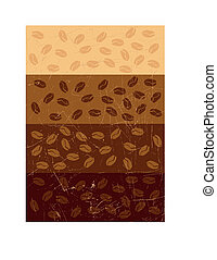Stripe background with coffee beans