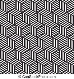 stripe cube pattern