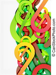 Stripe knot abstract background
