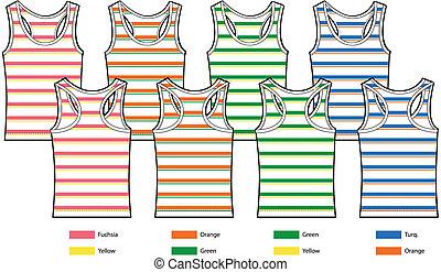 stripe pattern tank top vest