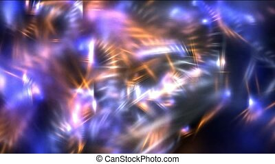 stripe rays light and laser chain in space, fire dragon ...