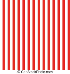 Seamless background pattern of red stripes on white