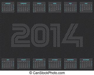 Striped 2014 calendar design