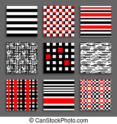 Striped and Chequered Patterns Set