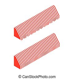 Striped awning vector