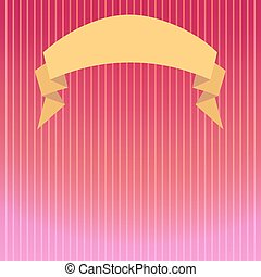 Striped background in pink tones with a backlight beam and a semicircular ribbon