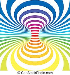 Striped background - Rainbow stripes projection on torus....