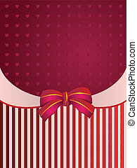Striped background with bow