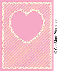Striped Background With Heart Shape