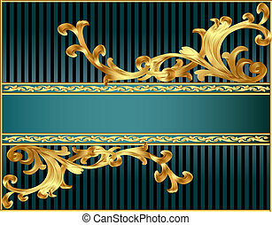 striped background with pattern from gild
