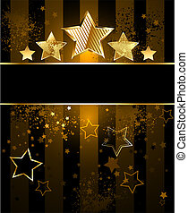 striped background with stars