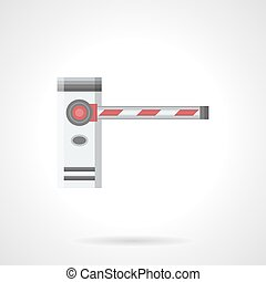 Striped barrier flat color vector icon