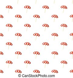 Striped beach umbrella pattern