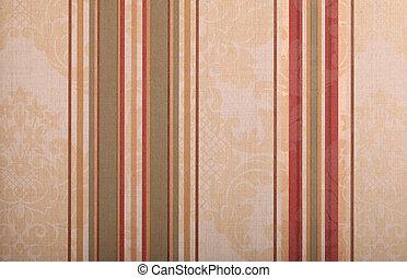 striped beige vintage wallpaper background