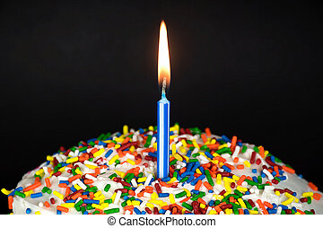 birthday candle on cake