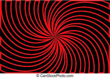 Striped black and red abstract background