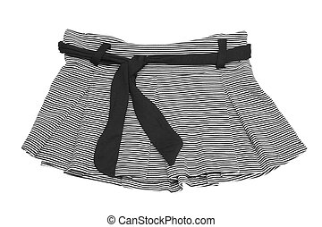 mini skirt - striped black and white mini skirt (with ...