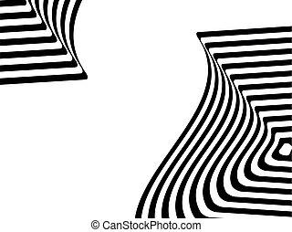 Striped black- white background