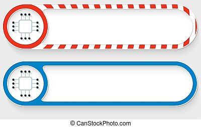 Striped buttons for your text and chip icon