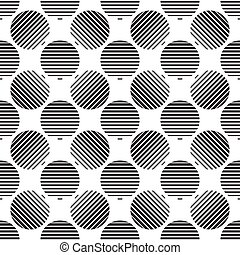 Striped circles on white background