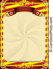 striped circus poster