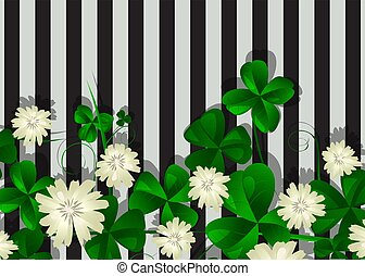 Striped clover background