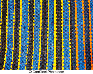striped colorful of doormat texture