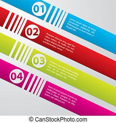 Striped commercial label set