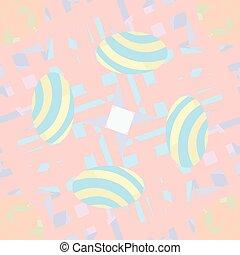 Striped Eggs in Pattern