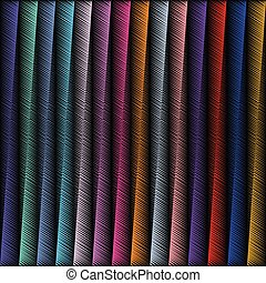 Striped embroidery 3d geometric seamless pattern. Vector abstrac