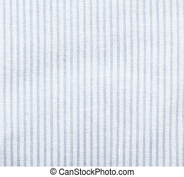 White striped fabric texture. Clothes background. Close up