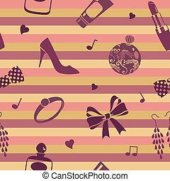 striped femine pattern