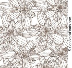 striped flowers over beige background vector illustration