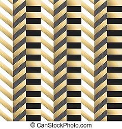 Striped geometric seamless pattern in gold