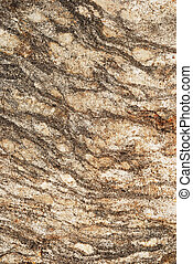 striped grangy granite stone surface close up