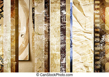 striped grunge scrapbook - special textured background made...